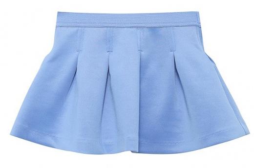 Юбка для девочки Sela, цвет: голубой. SK-518/059-7110. Размер 92, 2-3 годаSK-518/059-7110Короткая юбка-клеш для девочки Sela выполнена из плотного эластичного полиэстера. Юбка дополнена широкой эластичной резинкой на поясе и оснащена подъюбником из хлопка. Модель оформлена декоративными встречными складками.
