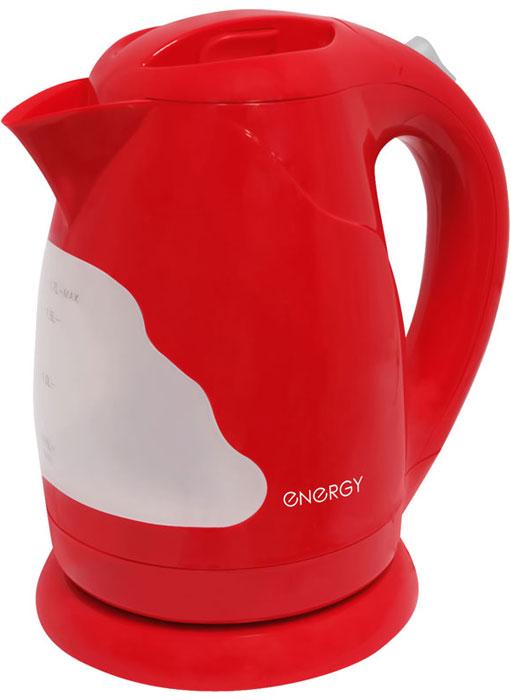 Energy E-205, Red электрический чайник54 153135Электрический чайник Energy E-205 прост в управлении и долговечен в использовании. Изготовлениз высококачественных материалов. Прозрачное окошко позволяет определить уровень воды. Мощность 2200 Втпозволит вскипятить 1,7 литра воды в считанные минуты. Беспроводное соединение позволяет вращать чайник наподставке на 360°. Для обеспечения безопасности при повседневном использовании предусмотрены функцияавтовыключения, а также защита от включения при отсутствии воды.
