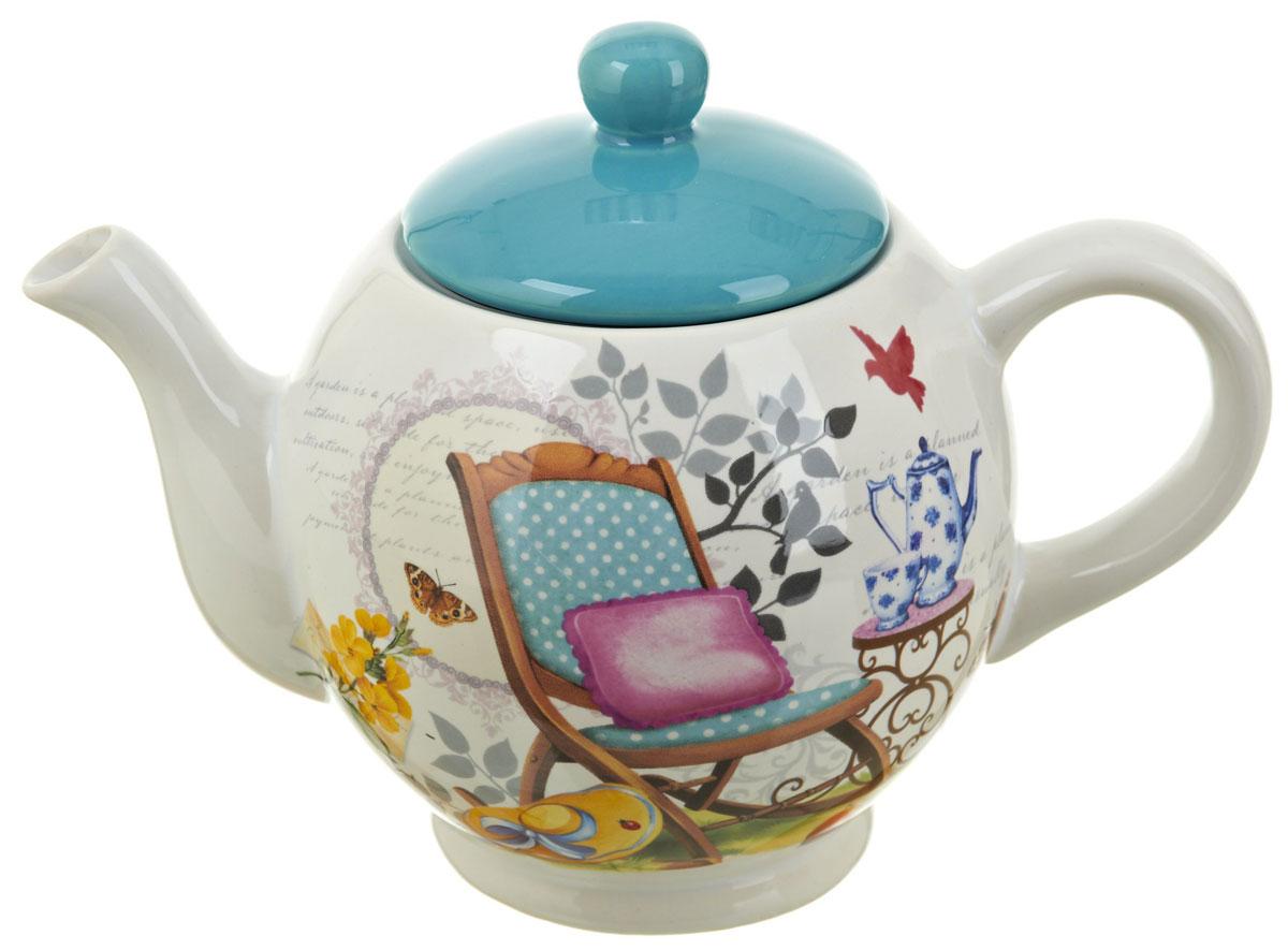Чайник заварочный ENS Group Сад, 1,1 л0660043Заварочный чайник Сад, изготовленный из высококачественной керамики, прекрасно впишется в интерьер вашей кухни и станет достойным дополнением к кухонному инвентарю. Изделие снабжено эргономичной крышкой и удобной ручкой. Такой чайник не только украсит ваш кухонный стол и подчеркнет прекрасный вкус хозяйки, но и станет отличным подарком