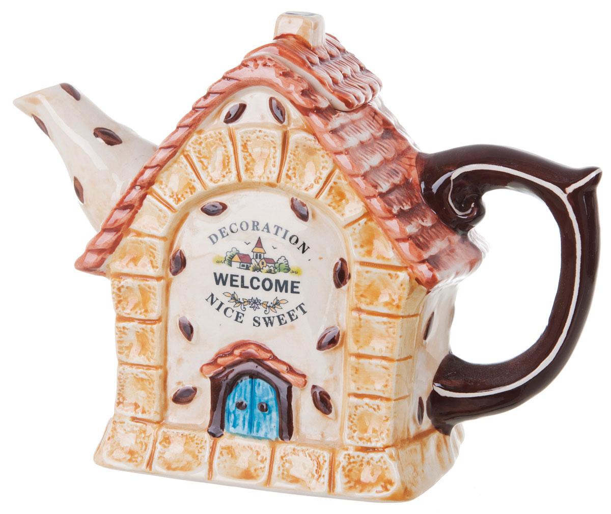 Чайник заварочный ENS Group Дом, милый дом, 900 мл0790036Этот великолепный чайник, выполненный из керамики, станет настоящим украшением любого стола. Послужит отличным подарком.Можно мыть в посудомоечной машине.
