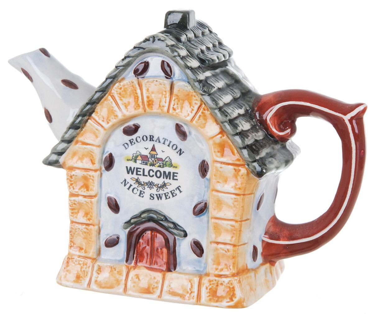 Чайник заварочный ENS Group Дом, милый дом, 700 мл0790038Этот великолепный чайник, выполненный из керамики, станет настоящим украшением любого стола. Послужит отличным подарком.Можно мыть в посудомоечной машине.