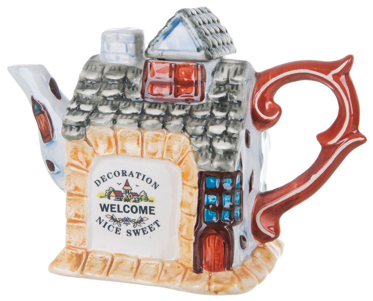 Чайник заварочный ENS Group Дом, милый дом, 650 мл0790041Этот великолепный чайник, выполненный из керамики, станет настоящим украшением любого стола. Послужит отличным подарком.Можно мыть в посудомоечной машине.