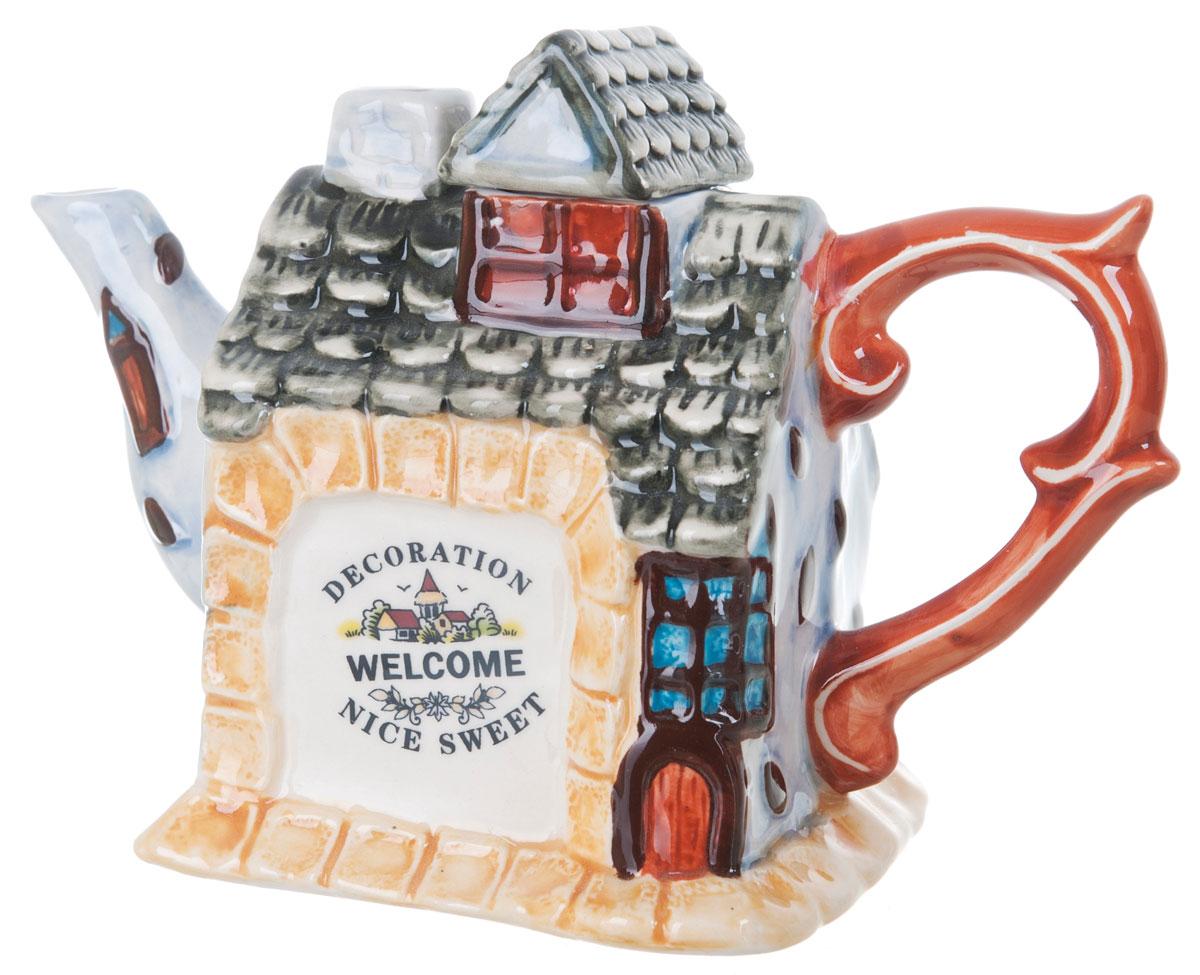 Чайник заварочный ENS Group Дом, милый дом, 450 мл0790042Этот великолепный чайник, выполненный из керамики, станет настоящим украшением любого стола. Послужит отличным подарком.Можно мыть в посудомоечной машине.