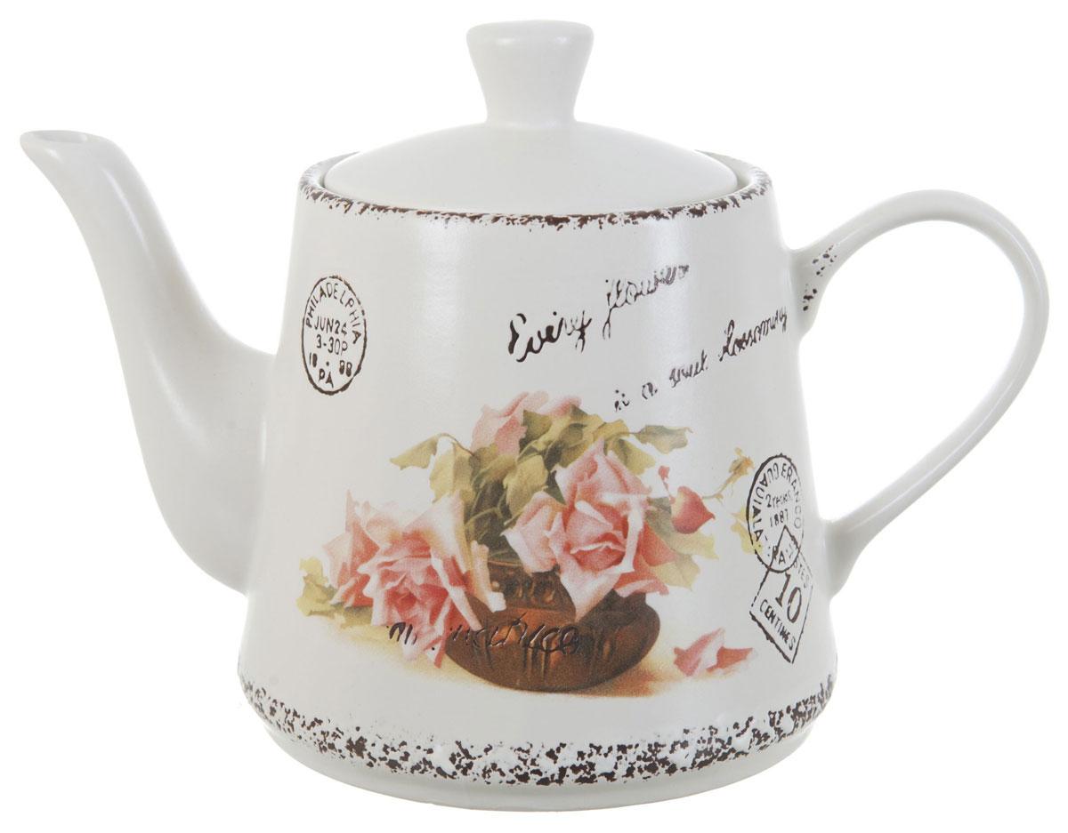 Чайник заварочный ENS Group Чайная роза, 1 л ens group шкатулка чайная роза 10х18х18 см