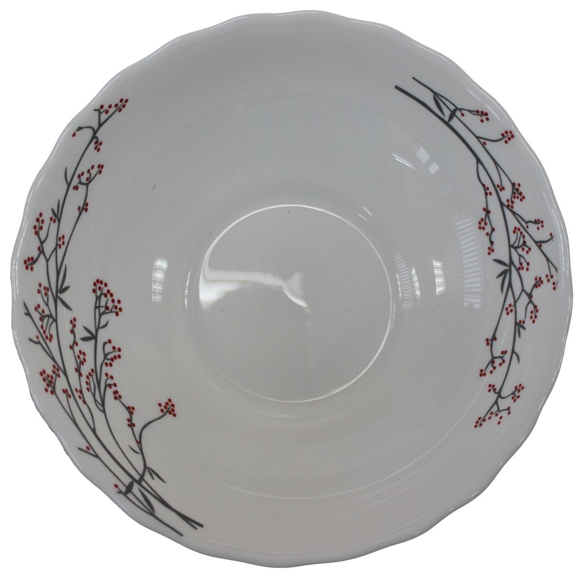 Салатник Марисса, 15,5 см. 818941818941Салатник Марисса выполнен из опалового стекла и оформлен цветочным принтом. Салатник можно использовать как суповую тарелку.