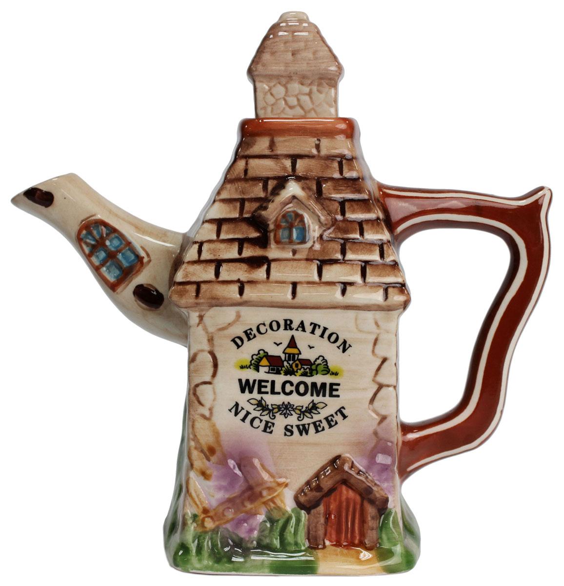 Чайник заварочный Домики, 600 мл. 824397824397Великолепный чайник Домики , выполненный из керамики, станет настоящим украшением любого стола. Он послужит отличный подарком для родных и близких! Объем чайника6 600 мл.