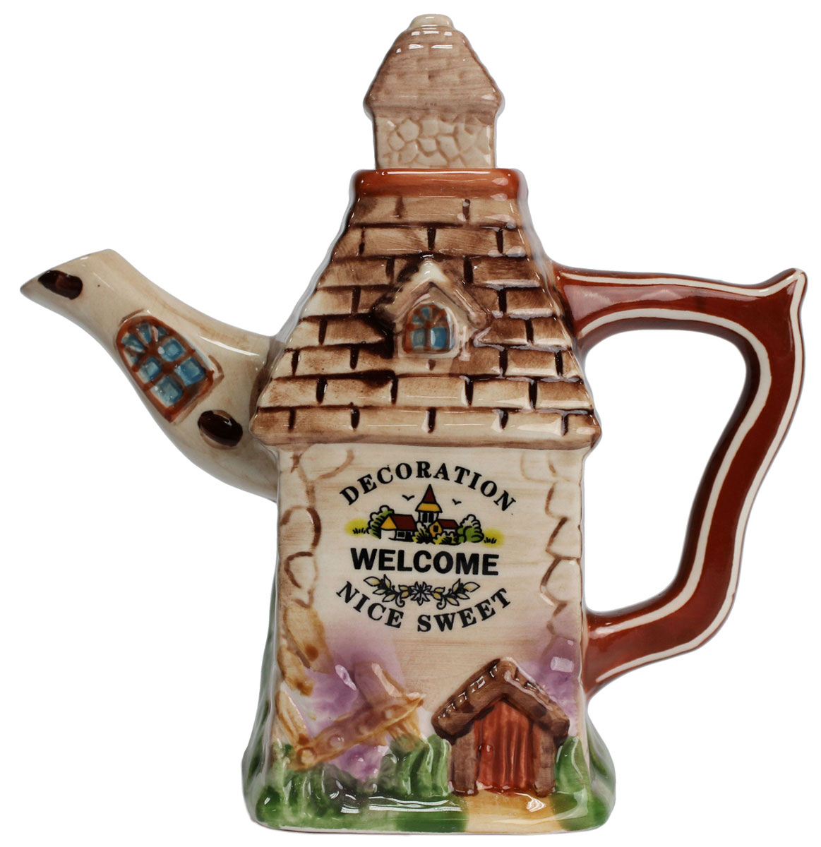 Чайник заварочный Домик, 300 мл. 824680824680Чайник заварочный Домик, выполненный из керамики, позволит вам заварить свежий, ароматный чай. Изделие имеет не обычный внешний вид. Такой чайник прекрасно оформит стол к чаепитию и станет его неизменным атрибутом.