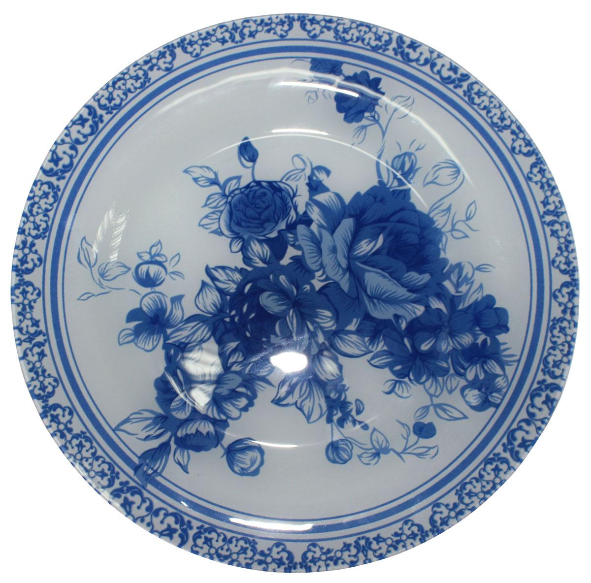 Тарелка обеденная Vetta Гжельские мотивы, диаметр 25 см830015Тарелка обеденная Vetta Гжельские мотивы выполнена из высококачественного стекла. Тарелка – важнейший предмет любого застолья. Будучи во главе стола, она привлекает к себе основное внимание. А это значит – рисунок, цвет и материал играют немаловажную роль.