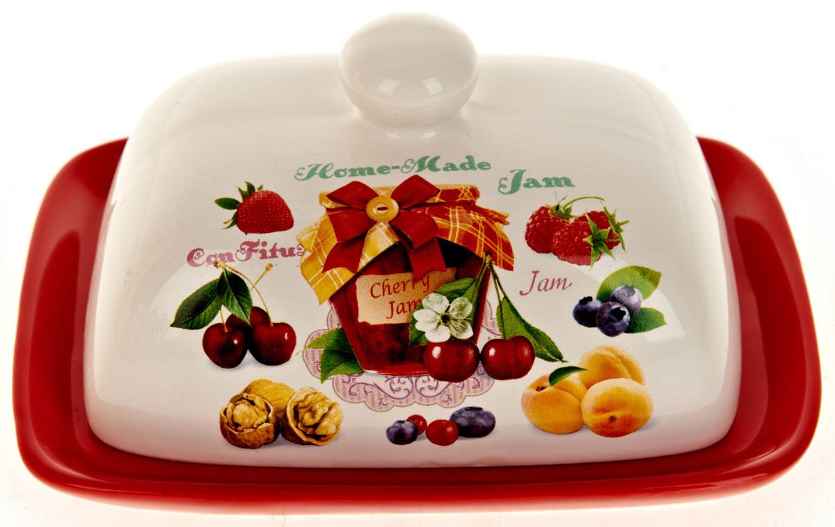 Масленка ENS Group Джем. L2430686L2430686Масленка Джем, изготовленная из керамики, предназначена для красивой сервировки и хранения масла. Она состоит из крышки с удобной ручкой и подноса. Масло в ней долго остается свежим, а при хранении в холодильнике не впитывает посторонние запахи. Гладкая поверхность обеспечивает легкую чистку.Можно мыть в посудомоечной машине.