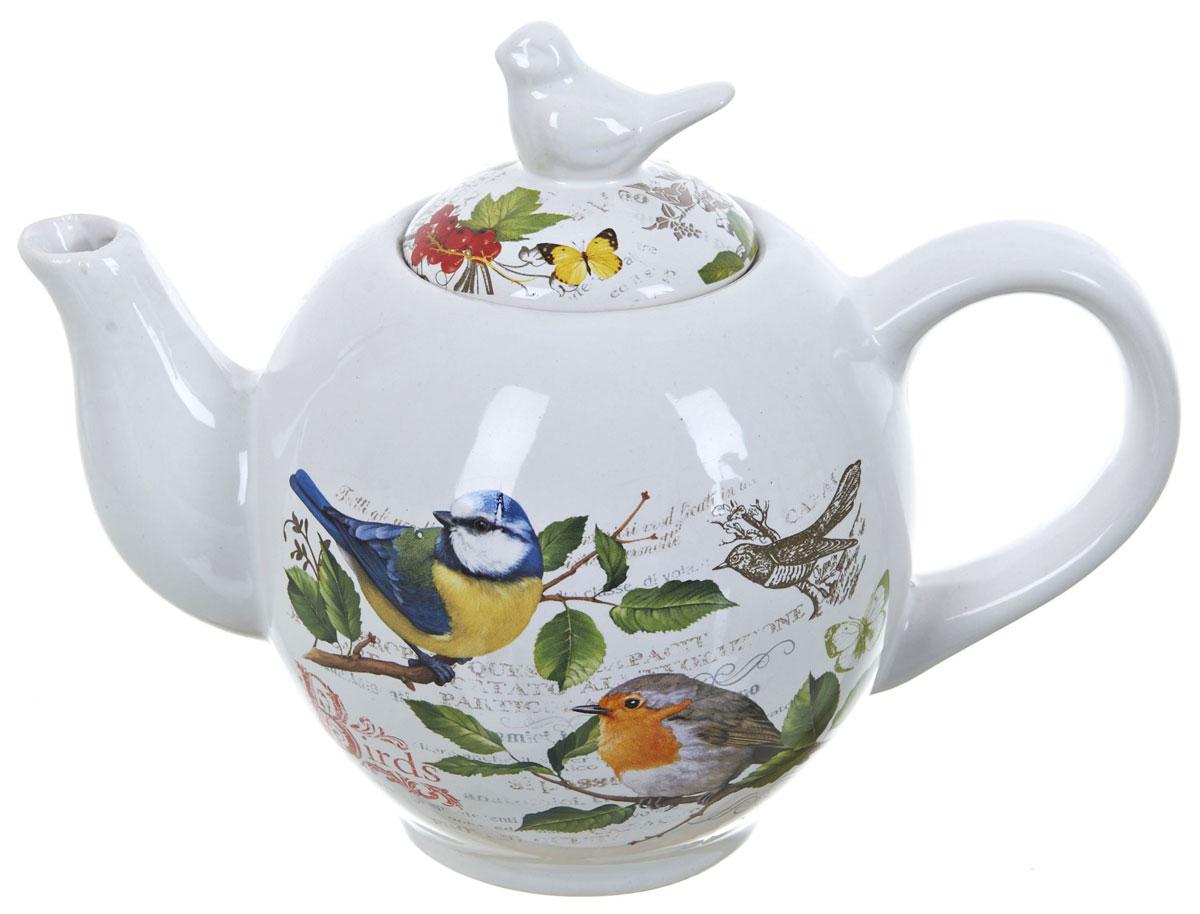 """Заварочный чайник """"Birds"""", изготовленный из высококачественной керамики, прекрасно впишется в интерьер вашей кухни и станет достойным дополнением к кухонному инвентарю. Изделие снабжено эргономичной крышкой и удобной ручкой. Такой чайник не только украсит ваш кухонный стол и подчеркнет прекрасный вкус хозяйки, но и станет отличным подарком для близких и друзей."""