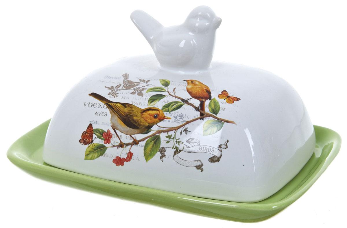Масленка ENS Group Birds. L2430752L2430752Масленка Birds, изготовленная из керамики, предназначена для красивой сервировки и хранения масла. Она состоит из крышки с удобной ручкой и подноса. Масло в ней долго остается свежим, а при хранении в холодильнике не впитывает посторонние запахи. Гладкая поверхность обеспечивает легкую чистку.Можно мыть в посудомоечной машине.