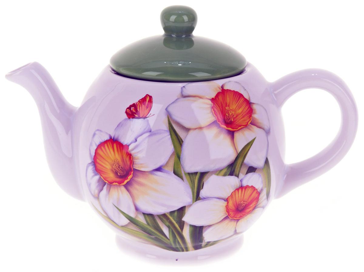 Чайник заварочный ENS Group Нарцисс, 1,1 лL2520301Заварочный чайник Нарцисс, изготовленный из высококачественной керамики, прекрасно впишется в интерьер вашей кухни и станет достойным дополнением к кухонному инвентарю. Изделие снабжено эргономичной крышкой и удобной ручкой. Такой чайник не только украсит ваш кухонный стол и подчеркнет прекрасный вкус хозяйки, но и станет отличным подарком.Можно мыть в посудомоечной машине.