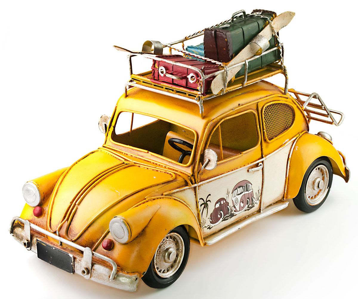 Модель Ретро Platinum Автомобиль, с фоторамкой и копилкой, цвет: желтый. 1404E-42411404E-4241Модель Platinum Автомобиль, выполненная из металла, станет оригинальным украшением интерьера. Вы можете поставить модель ретро-автомобиля в любом месте, где она будет удачно смотреться.Изделие дополнено копилкой и фоторамкой, куда вы можете вставить вашу любимую фотографию.Качество исполнения, точные детали и оригинальный дизайн выделяют эту модель среди ряда подобных. Модель займет достойное место в вашей коллекции, а также приятно удивит получателя в качестве стильного сувенира.