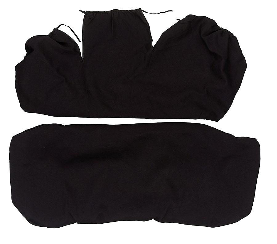 Чехлы Антей Маечка, на задние сидения, цвет: черный, 2 шт