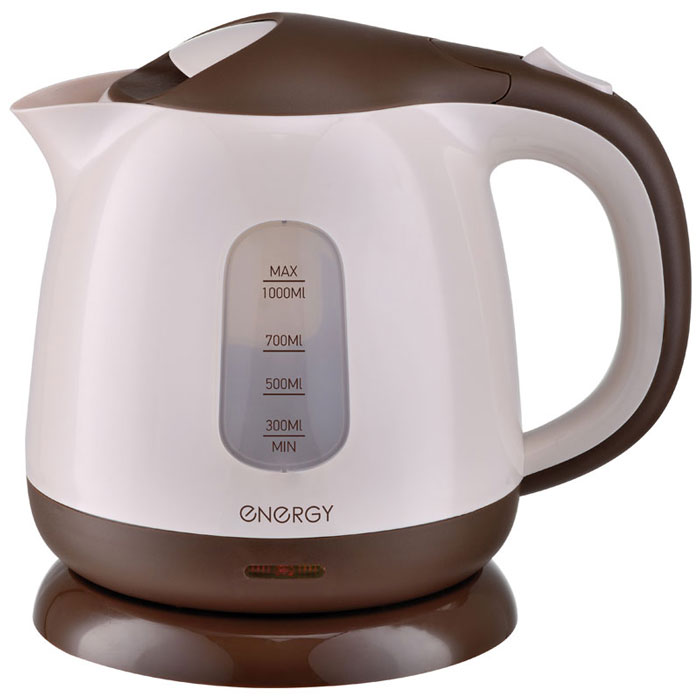 Energy E-275, White Brown электрический чайник energy чайник energy e 205 1 7 л диск синий