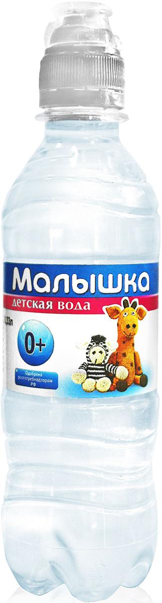 Малышка вода минеральная природная питьевая столовая негазированная, 0,33 л беби вода питьевая детская 5л