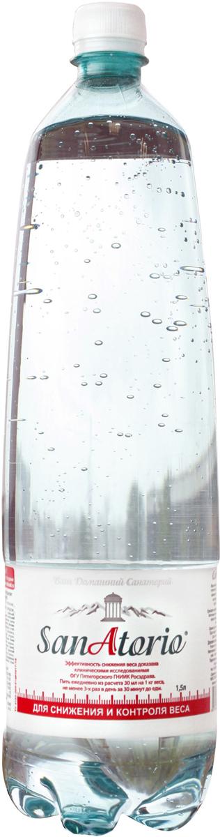 Санаторио вода минеральная питьевая лечебно-столовая газированная, 1,5 л минеральная вода славяновская 0 5 л пэт гост