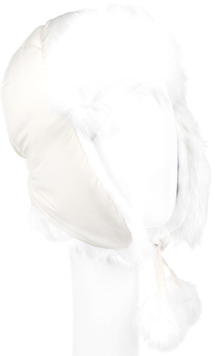 Шапка-ушанка для девочки Gulliver, цвет: молочный. 21602GMC7304. Размер 5021602GMC7304Утепленная шапка-ушанка для девочки Gulliver выполнена из высококачественного полиэстера и имеет наполнитель из синтепона. Подкладка выполнена из мягкого флиса. Модель имеет вставки из натурального кроличьего меха. Ушки шапки фиксируются при помощи завязок. Уважаемые клиенты! Обращаем ваше внимание на тот факт, что размер, доступный для заказа, является обхватом головы.