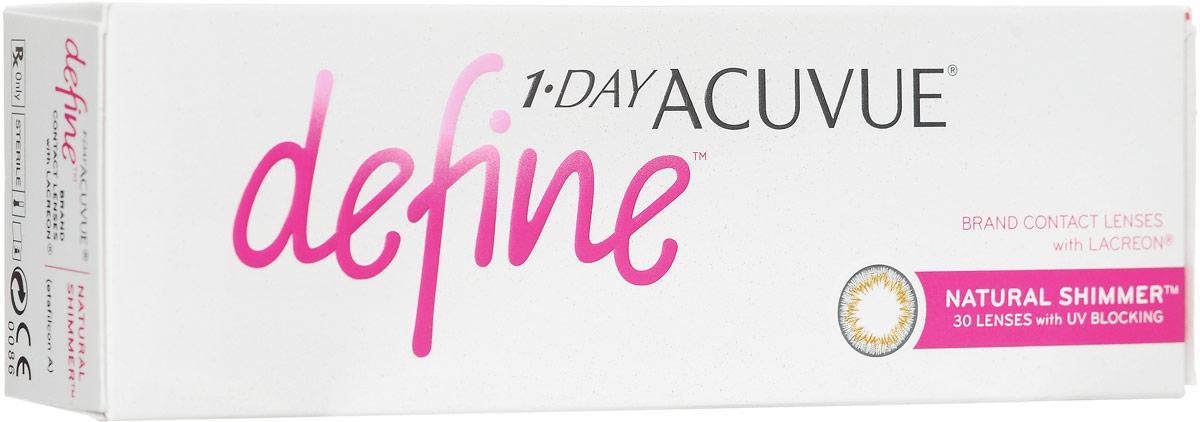 Johnson & Johnson Контактные линзы 1-Day Acuvue Define With Lacreon (30шт / -6.50 / 8.5 / 14.2) Shimmer785810068364Мягкие контактные линзыКонтактные линзы или очки: советы офтальмологов. Статья OZON Гид