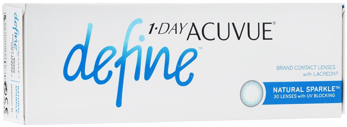 Johnson & Johnson Контактные линзы 1-Day Acuvue Define With Lacreon (30шт / -5.25 / 8.5 / 14.2) Sparkle100036025Мягкие контактные линзыКонтактные линзы или очки: советы офтальмологов. Статья OZON Гид