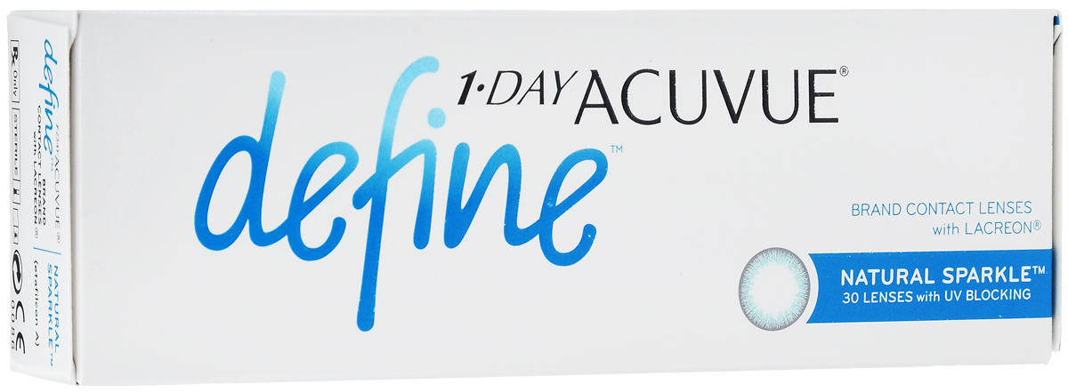 Johnson & Johnson Контактные линзы 1-Day Acuvue Define With Lacreon (30шт / -9.00 / 8.5 / 14.2) Sparkle контактные линзы 365 day контактные линзы 1 25 3мес