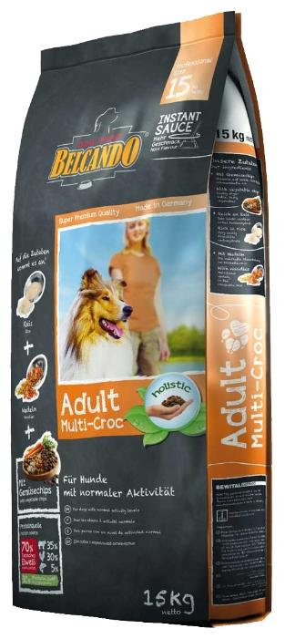 Корм сухой Belcando Adult Multi-Croc, для взрослых собак крупных пород, 15 кг33015Сухой корм Belcando Adult Multi-Croc предназначен для собак с умеренным уровнем ежедневной активности, т.е. для обычных домашних собак, которые не подвергаются таким активным физическим нагрузкам, как, к примеру, сторожевые или ездовые собаки. Если вы хотите побаловать своего питомца чем-нибудь вкусненьким, просто смешайте корм с теплой водой, в соотношении 3/1, и вы получите вкуснейшие крокеты в аппетитной мясной подливке!Преимущества: - Особое сочетание крокетов с рисом, овощами, лапшой и различными видами мяса. - Эффект соуса: при смешивании с теплой водой образуется вкуснейший соус. - Сбалансированное соотношение белков, жиров и углеводов в общей энергетической ценности продукта, идеально для нормального уровня активности. - Лецитин, пивные дрожжи и линолевая кислота улучшают состояние шерсти и кожи. - Изготовлен без использования сои и молочных продуктов. Состав: рис (13%); кукуруза; пшеница; сухое мясо птицы пониженной зольности; пшеничная мука; лапша (7%); животный жир; рафинированное растительное масло; экструдированные овощи (4%; с содержанием высушенной моркови 0,10%; сухой горох 1,35%); жир домашней птицы; пивные дрожжи; сухой жом; мука сельди; дикальций фосфат; гидролизат печени птицы; яичный порошок; цареградский стручок крупного помола; поваренная соль; карбонад кальция. Добавки: витамин А 1000 МЕ, витамин D3 1000 МЕ, витамин Е 100 мг, медь (как медь-(ll)-сульфат, пентагидрат) 12 мг, железо (в форме железа ll сульфат) 188 мг, железо (в форме оксид железа lll) 185 мг, марганец (как двуокись марганца) 38 мг, цинк (как окись цинка) 141 мг, йод (как йодид калия) 1,9 мг, селен (в форме селен натрия) 0,14 мг, лецитин 2000 мг, экстракты натурального происхождения с высоким содержанием токоферола (= натуральный витамин E) 48 мг.Питательные элементы: протеин 24%, жиры 11%, клетчатка 2,8%, сырая зола 7%, влага 10%, кальций 1,4%, фосфор 1%, натрий 0,3%.Товар сертифицирован.
