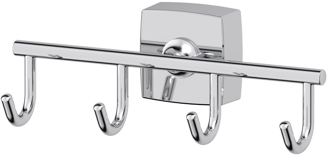 Крючок для ванной FBS Esperado, четверной. ESP 004ESP 004Крючок для ванной FBS Esperado изготовлен из высококачественной хромированной латуни, устойчивой к коррозии в условиях высокой влажности в ванной комнате. Навесная планка с четырьмя крючками - это практичное решение для размещения аксессуаров, полотенец или банных принадлежностей, позволяющее сэкономить пространство и организовать порядок в ванной комнате. Изделие крепится к стене при помощи шурупов.Классический дизайн подойдет для любого интерьера ванной комнаты. Аксессуары торговой марки FBS производятся на заводе ELLUX Gluck s.r.o., имеющем 20-летний опыт работы. Предприятие расположено в Злинском крае, исторически знаменитом своим промышленным потенциалом. Компоненты из всемирно известного богемского хрусталя выгодно дополняют серии аксессуаров. Широкий ассортимент, разнообразие форм, высочайшее качество исполнения и техническое совершенство продукции отвечают самым высоким требованиям. Продукция FBS представлена на российском рынке уже более 10 лет и за это время успела завоевать заслуженную популярность у покупателей, отдающих предпочтение дорогой и качественной продукции.