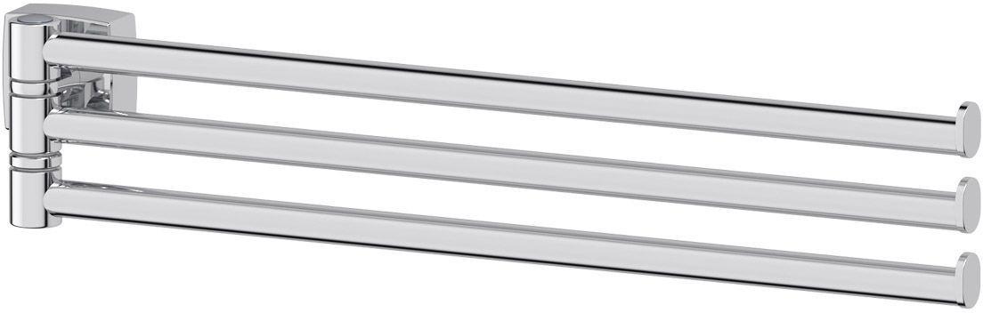 Держатель для полотенец FBS Esperado, поворотный, тройной, 37 см. ESP 045ESP 045Держатель для полотенец FBS Esperado изготовлен из высококачественной хромированной латуни. Тройной поворотный держатель позволит компактно разместить полотенца в ванной комнате. Изделие крепится к стене при помощи шурупа.Классический дизайн подойдет для любого интерьера ванной комнаты.Длина держателя: 37 см. Аксессуары торговой марки FBS производятся на заводе ELLUX Gluck s.r.o., имеющем 20-летний опыт работы. Предприятие расположено в Злинском крае, исторически знаменитом своим промышленным потенциалом. Компоненты из всемирно известного богемского хрусталя выгодно дополняют серии аксессуаров. Широкий ассортимент, разнообразие форм, высочайшее качество исполнения и техническое совершенство продукции отвечают самым высоким требованиям. Продукция FBS представлена на российском рынке уже более 10 лет и за это время успела завоевать заслуженную популярность у покупателей, отдающих предпочтение дорогой и качественной продукции.