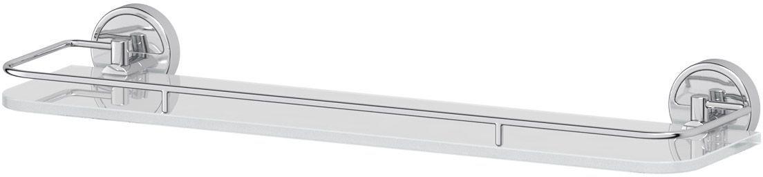 Полка для ванной комнаты FBS Luxia, с держателями, 50 см, цвет: хром. LUX 015LUX 015Навесная полка FBS Luxia сэкономит место в вашей ванной комнате. Она пригодится для хранения различных принадлежностей, которые всегда будут под рукой. Благодаря компактным размерам полка впишется в интерьер ванной комнаты и позволит удобно и практично хранить предметы личной гигиены.