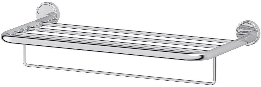 Полка для ванной комнаты FBS Luxia, для полотенец со штангой, 60 см, цвет: хром. LUX 042LUX 042Полка для ванной комнаты FBS Luxia выполнена из высококачественной нержавеющей стали. Состоит из 1 полки и перекладины, на которую можно повесить полотенце. Крепится к стене при помощи шурупов. Полка пригодится для хранения различных предметов, которые всегда будут под рукой.