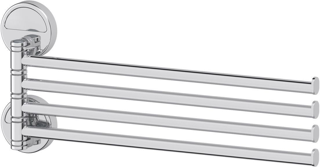 Держатель полотенец FBS Luxia, поворотный, четверной 37 см, цвет: хром. LUX 046LUX 046Аксессуары торговой марки FBS производятся на заводе ELLUX Gluck s.r.o., имеющем 20-летний опыт работы. Предприятие расположено в Злинском крае, исторически знаменитом своим промышленным потенциалом. Компоненты из всемирно известного богемского хрусталя выгодно дополняют серии аксессуаров. Широкий ассортимент, разнообразие форм, высочайшее качество исполнения и техническое?совершенство продукции отвечают самым высоким требованиям. Продукция FBS представлена на российском рынке уже более 10 лет и за это время успела завоевать заслуженную популярность у покупателей, отдающих предпочтение дорогой и качественной продукции.