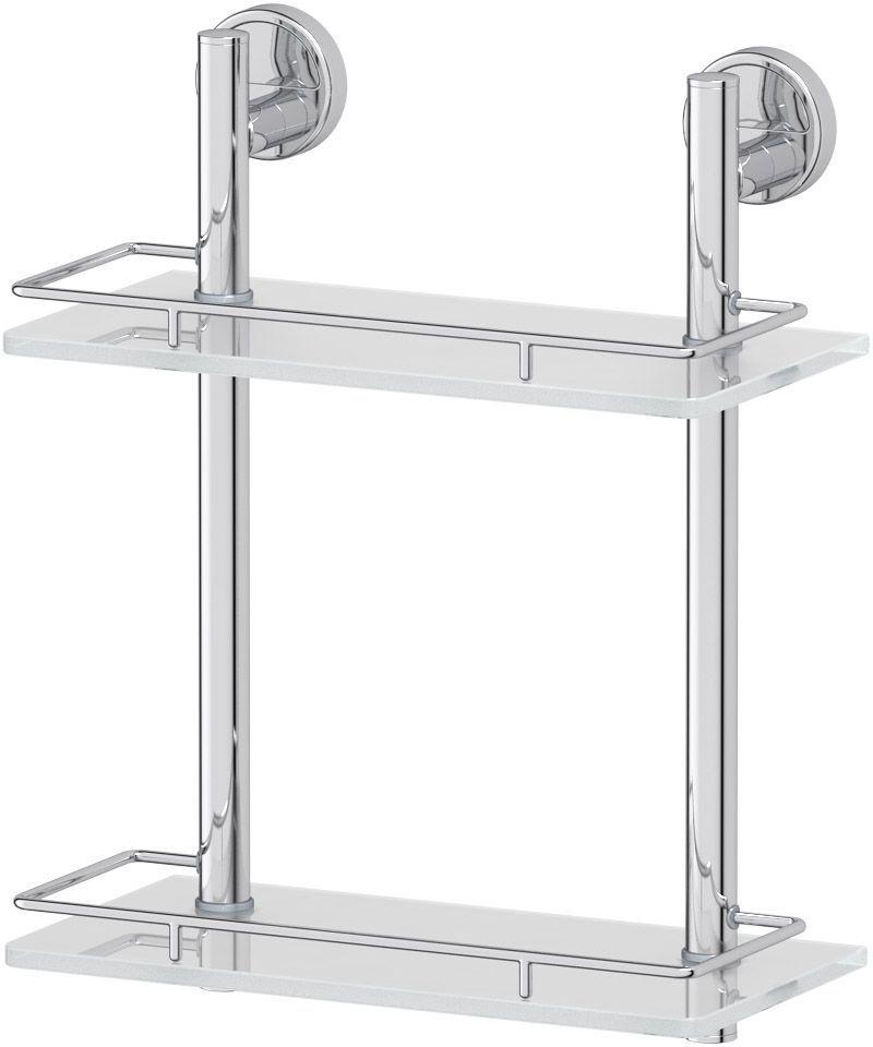 Полка для ванной FBS Luxia, двухъярусная, 30 х 15 х 38 смLUX 062Двухъярусная полка для ванной FBS Luxia изготовлена из высококачественной хромированной латуни и матового стекла. Материал устойчив к коррозии в условиях высокой влажности в ванной комнате. Оптимальное расстояние между ярусами позволяет разместить тюбики и флаконы большого размера.Изделие оснащено ограничителями и крепится на шурупах.Классический дизайн и оптимальная вместимость подойдет для любого интерьера ванной комнаты или кухни. Размер: 30 х 15 х 38 см.Аксессуары торговой марки FBS производятся на заводе ELLUX Gluck s.r.o., имеющем 20-летний опыт работы. Предприятие расположено в Злинском крае, исторически знаменитом своим промышленным потенциалом. Компоненты из всемирно известного богемского хрусталя выгодно дополняют серии аксессуаров. Широкий ассортимент, разнообразие форм, высочайшее качество исполнения и техническое совершенство продукции отвечают самым высоким требованиям. Продукция FBS представлена на российском рынке уже более 10 лет и за это время успела завоевать заслуженную популярность у покупателей, отдающих предпочтение дорогой и качественной продукции.