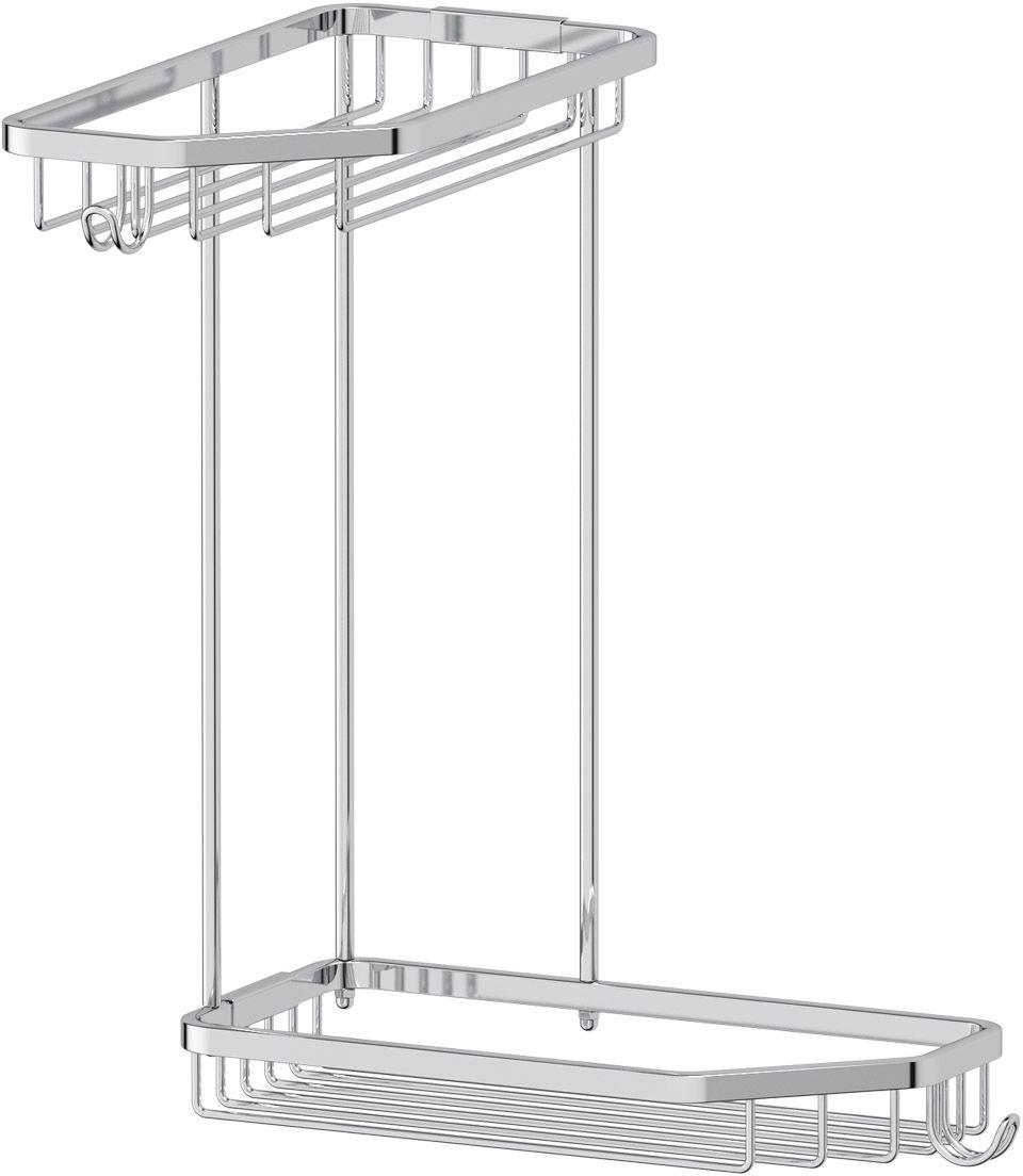 Полка-решетка для ванной FBS Ryna, угловая, 2-х ярусная, 20х 20 х 28,5 см, цвет: хром. RYN 013RYN 013Настенная угловая 2-х ярусная полка-решетка FBS Ryna изготовлена из латуни с качественным хромированным покрытием, которое надолго защитит его от ржавчины в условиях высокой влажности в ванной комнате. Полка дополнена крючками для мочалок. Стильная и функциональная полка украсит и дополнит интерьер вашей ванной комнаты.Размер:20х 20 х 28,5 см.Аксессуары торговой марки FBS производятся на заводе ELLUX Gluck s.r.o., имеющем 20-летний опыт работы. Предприятие расположено в Злинском крае, исторически знаменитом своим промышленным потенциалом. Компоненты из всемирно известного богемского хрусталя выгодно дополняют серии аксессуаров. Широкий ассортимент, разнообразие форм, высочайшее качество исполнения и техническое совершенство продукции отвечают самым высоким требованиям. Продукция FBS представлена на российском рынке уже более 10 лет и за это время успела завоевать заслуженную популярность у покупателей, отдающих предпочтение дорогой и качественной продукции.