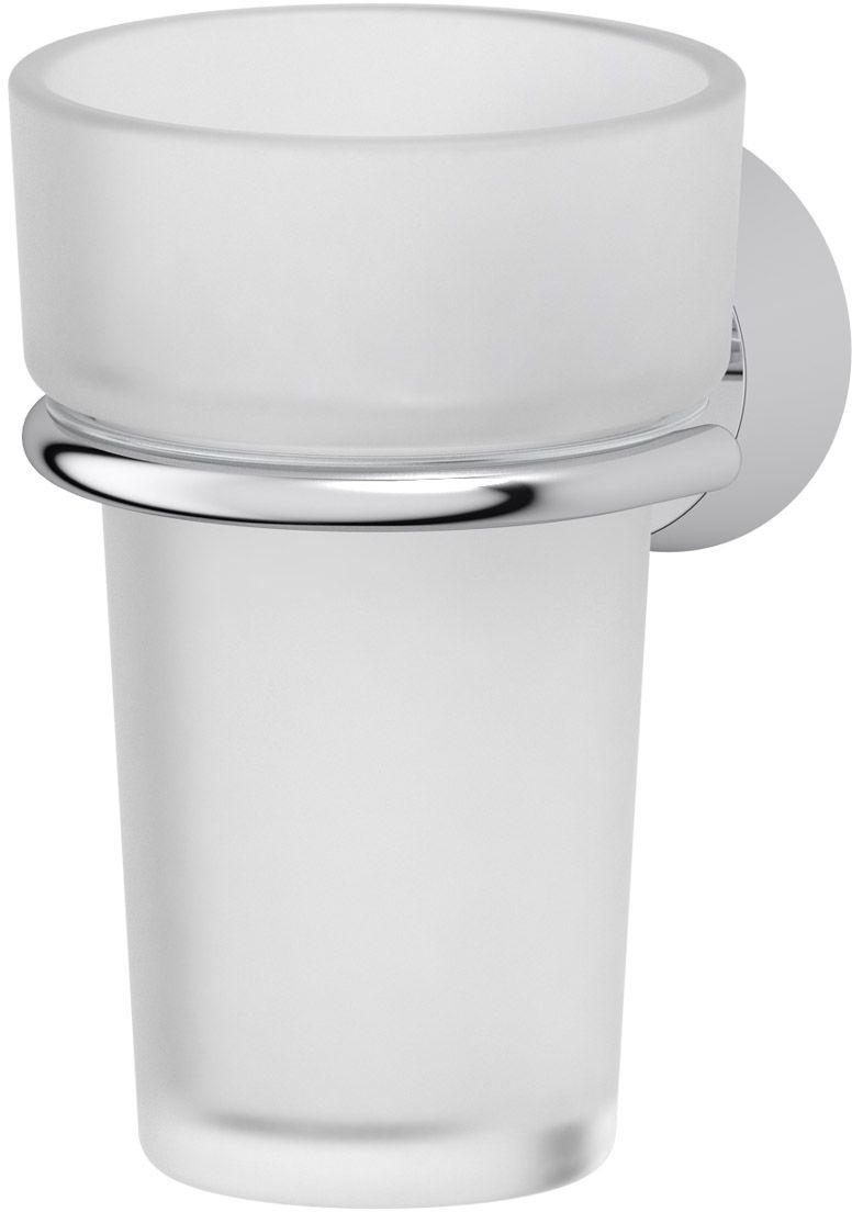 """Держатель FBS """"Vizovice"""" со стаканом изготовлен из высококачественной латуни и хрусталя. Изделие предназначено для хранения зубных щеток и зубной пасты. Держатель крепится к стене с помощью саморезов (входят в комплект).    Аксессуары торговой марки FBS производятся на заводе ELLUX Gluck s.r.o., имеющем 20-летний опыт работы. Предприятие расположено в Злинском крае, исторически знаменитом своим промышленным потенциалом. Компоненты из всемирно известного богемского хрусталя выгодно дополняют серии аксессуаров. Широкий ассортимент, разнообразие форм, высочайшее качество исполнения и техническое совершенство продукции отвечают самым высоким требованиям. Продукция FBS представлена на российском рынке уже более 10 лет и за это время успела завоевать заслуженную популярность у покупателей, отдающих предпочтение дорогой и качественной продукции."""