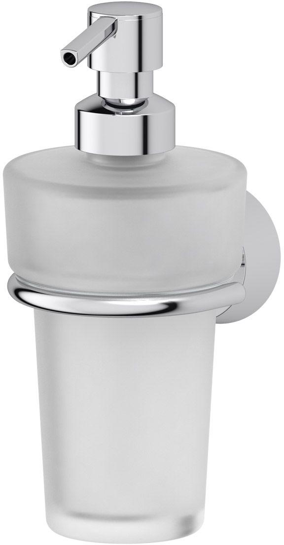 Держатель с дозатором жидкого мыла FBS Vizovice, цвет: хром. VIZ 009VIZ 009Держатель FBS Vizovice изготовлен из высококачественной латуни. Дозатор для жидкого мыла выполнен из пластика и хрусталя. Надежное крепление аксессуаров к стене обусловлено использованием качественных и прочных материалов крепежных элементов и хорошо продуманной конструкцией, разработанной с учетом возможных нагрузок.