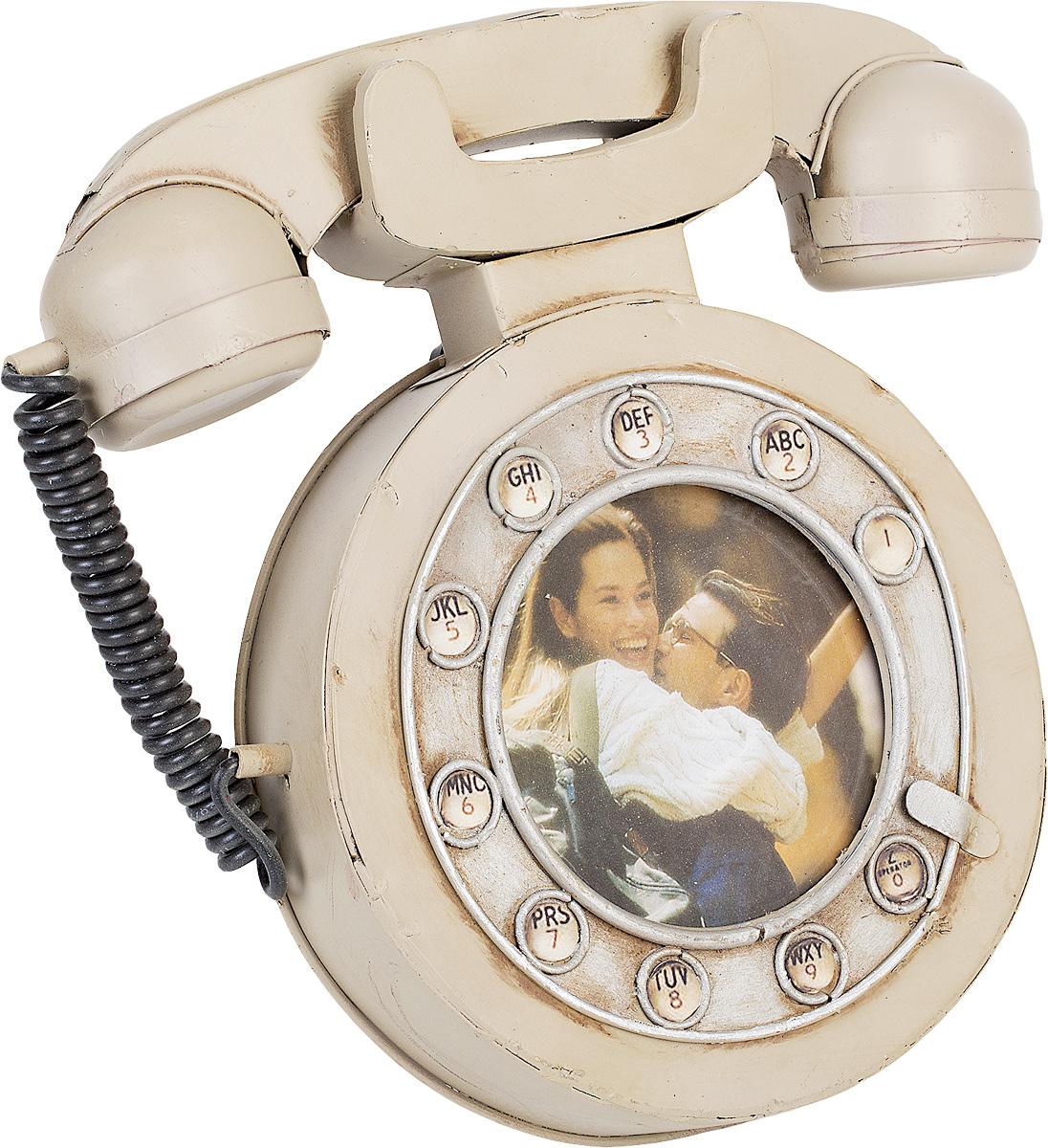Фоторамка Platinum Телефон дисковый, 10 х 10 см1404B-1347Фоторамка Platinum Телефон дисковый выполнена в классическом стиле из высококачественных материалов. Такая фоторамка поможет вам оригинально и стильно дополнить интерьер помещения, а также позволит сохранить память о дорогих вам людях и интересных событиях вашей жизни.