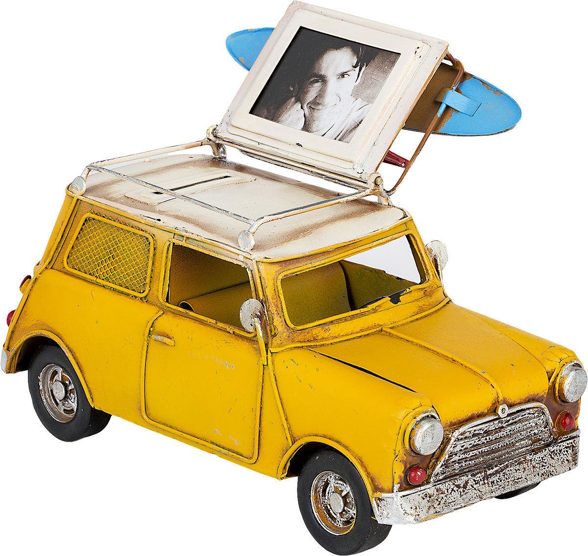Модель Platinum Автомобиль, с фоторамкой и копилкой. 1404E-43581404E-4358Модель Platinum Автомобиль, выполненная из металла, станет оригинальным украшением интерьера. Вы можете поставить модель ретро-автомобиля в любом месте, где она будет удачно смотреться.Изделие дополнено копилкой и фоторамкой, куда вы можете вставить вашу любимую фотографию.Качество исполнения, точные детали и оригинальный дизайн выделяют эту модель среди ряда подобных. Модель займет достойное место в вашей коллекции, а также приятно удивит получателя в качестве стильного сувенира.
