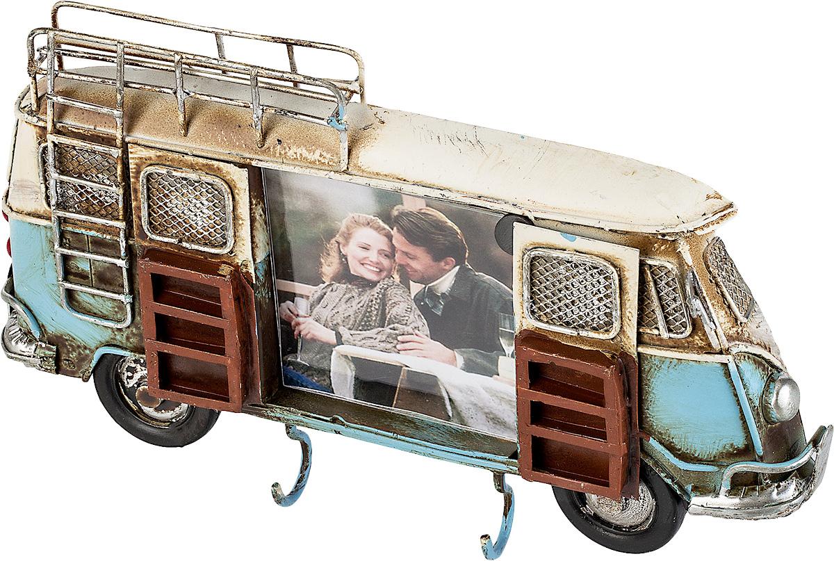 Фоторамка-ключница Platinum Автобус, цвет: синий, 6 х 7 см фоторамки platinum quality фоторамка автобус
