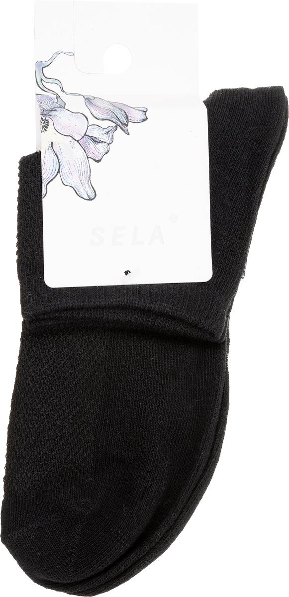 Носки женские Sela, цвет: черный. SOb-154/043-7101. Размер 21/23SOb-154/043-7101Удобные женские носки Sela, изготовленные из высококачественного материала, станут отличным дополнением к детскому гардеробу. Благодаря содержанию мягкого хлопка в составе, кожа сможет дышать, а эластан позволяет носкам легко тянуться, что делает их комфортными в носке.Эластичная резинка плотно облегает ногу, не сдавливая ее,обеспечивая комфорт и удобство. Верхняя сторона носочка оформлена небольшой перфорацией. Уважаемые клиенты!Размер, доступный для заказа, является длиной стопы.