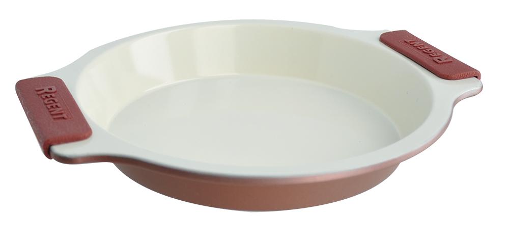 Форма для выпечки Regent Inox Silicone Easy, с керамическим покрытием, круглая, 26 х 23 см держатели кухонные regent inox подставка для бумажного полотенца