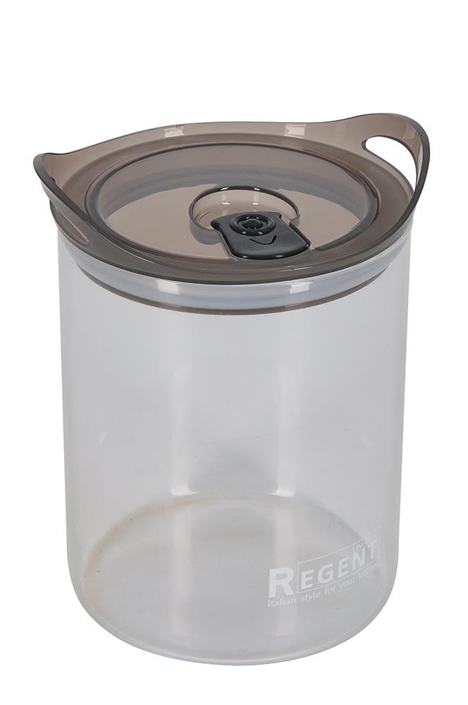 Банка для сыпучих продуктов Regent Inox Desco, 1,2 л93-DE-CA-01-1200Банка для сыпучих продуктов Regent Inox Desco изготовлена из прочного стекла. Прозрачные стенки позволяют видеть содержимое. Банка снабжена пластиковой крышкой с клапаном..Изделие подходит для хранения разнообразных сыпучих продуктов, таких как крупы, сахар, соль, чай, кофе и многое другое. Банка сбережет ваши продукты от влаги, пыли и насекомых и надолго сохранит их свежими.