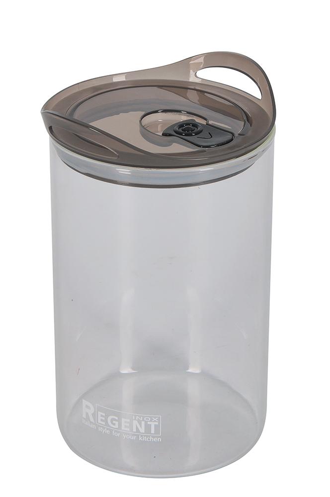 Банка для сыпучих продуктов Regent Inox Desco, 1,6 л емкости неполимерные sestesi банка для сыпучих продуктов с крышкой овощи