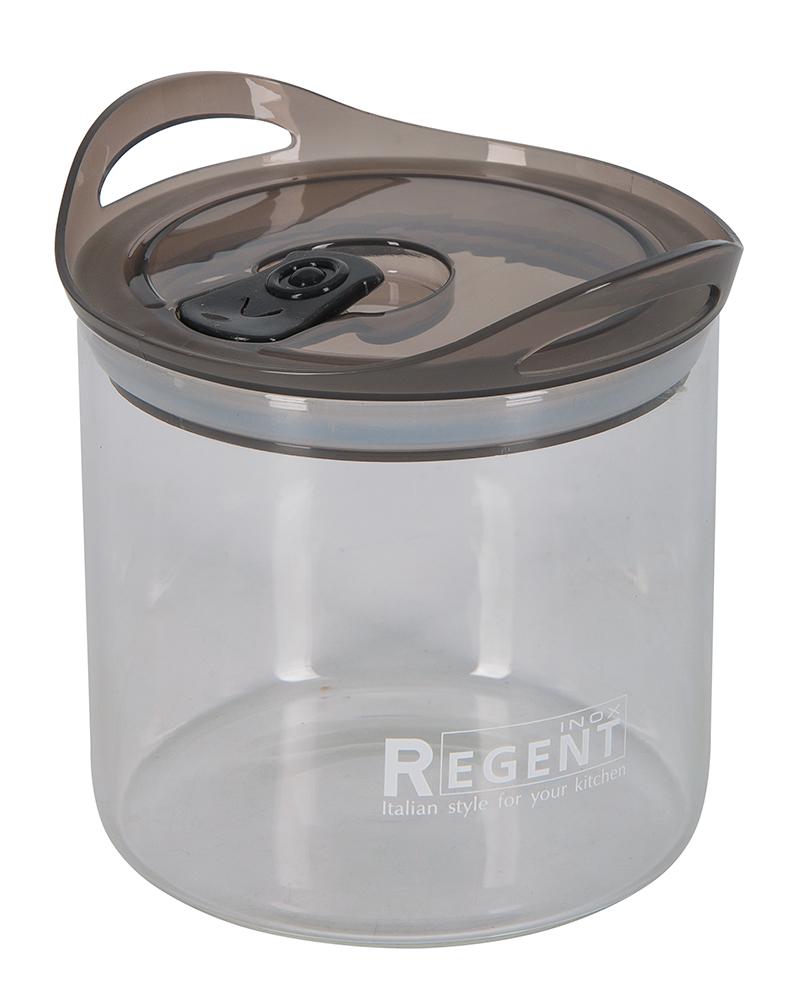 Банка для сыпучих продуктов Regent Inox Desco, 0,9 лIM99-5250Банка для сыпучих продуктов Regent Inox Desco изготовлена из прочного стекла. Прозрачные стенки позволяют видеть содержимое. Банка снабжена пластиковой крышкой с клапаном..Изделие подходит для хранения разнообразных сыпучих продуктов, таких как крупы, сахар, соль, чай, кофе и многое другое. Банка сбережет ваши продукты от влаги, пыли и насекомых и надолго сохранит их свежими.