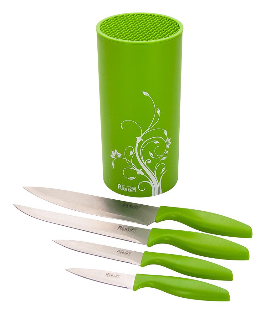 Набор ножей Regent Inox Linea Filo, 5 предметов93-KN-FI-S5В состав набора из 5 предметов Regent Inox Linea Filo входит: 4 ножа и пластиковая подставка. Лезвия ножей выполнены из качественной нержавеющей стали.