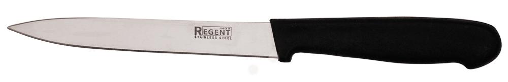 Нож для овощей Regent Inox Linea Presto, длина лезвия 12,5 см93-PP-5Нож для овощей Regent Inox выполнен из нержавеющей стали, которая не впитывает запахи и не подвергается коррозии. Также данный материал обладает прочностью и высокой стойкостью к механичным воздействиям. Изделие исполнено в классическом стиле, который не будет противоречить общему интерьеру кухни. Этот небольшой и легкий нож идеально подойдет для нарезки и очистки овощей и фруктов. Данный аксессуар прослужит вам долго и будет необходимым помощником на вашей кухне. Режущая кромка лезвия ножа длительное время сохраняет идеальную заточку.Длина лезвия: 12,5 см.Длина ножа: 22 см.