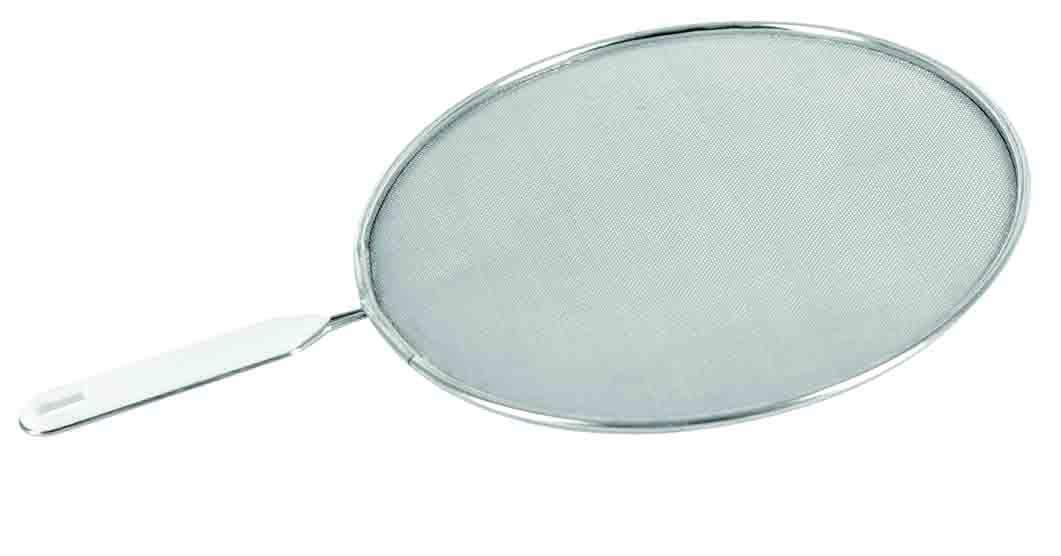 Брызгогаситель Regent Inox Pronto, диаметр 24 см93-PRO-36-24Брызгогаситель Regent Inox Pronto выполнен из нержавеющей стали с темным покрытием, он выдерживает высокие температуры. Это удобное приспособление отлично защищает руки от ожогов, а плиту и рядом стоящую кухонную мебель от брызг. Изделие подходит для сковород, кастрюль, ковшей диаметра 24 см. Сетчатая структура позволяет контролировать количество пара, избегая избыточного давления. Нержавеющая сталь является износостойким материалом, поэтому брызгогаситель прослужит вам довольно долго. Он будет надежной защитой от брызг в период приготовления еды, в то же время крышка позволяет регулировать количество пара. Диаметр: 29 см.