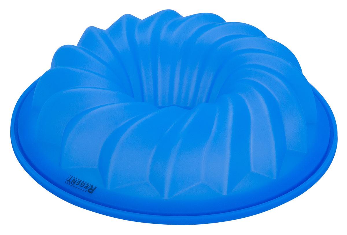 Форма для кекса Regent Inox Silicone, диаметр 26 см, цвет: синий93-SI-FO-107Круглая форма Regent Inox Silicone будет отличным выбором для всех любителей выпечки. Благодаря тому, что форма изготовлена из силикона, готовую выпечку вынимать легко и просто. Стенки формы оснащены рельефной поверхностью. Форма прекрасно подходит для выпечки кексов. С такой формой вы всегда сможете порадовать своих близких оригинальной выпечкой. Материал изделия устойчив к фруктовым кислотам, может быть использован в духовках, микроволновых печах, холодильниках (выдерживает температуру от -40°C до 230°C). Диаметр (по верхнему краю): 26 см.Высота стенок: 6 см.