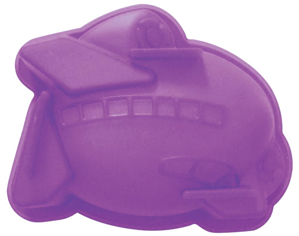 Форма для выпечки Regent Inox Самолетик, силиконовая, цвет: фиолетовый, 9 х 12 х 4 см форма силиконовая для выпечки кекса regent inox кугельхопф