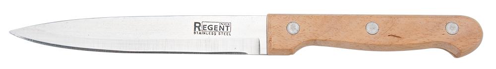 Нож для овощей Regent Inox Linea Retro, 12,5 х 22 см93-WH1-5Нож для овощей Regent Inox Linea Retro отлично подойдет для чистки, разделки и нарезки фруктов, овощей. Оптимально сбалансированная ручка обеспечивает удобство и безопасность во время работы. Изделие 93-WH1-5 произведено из нержавеющей стали, которая не влияет на вкус пищи и в течение многих лет остаётся острой. Данный материал также обладает высокой прочностью и долговечностью. Приготовление пищи с этим ножом доставит вам массу удовольствия. Классический дизайн изделия прекрасно подойдет к любой кухне. Ручка посуды изготовлена из дерева гевеи и имеет изгиб, который обеспечивает комфортный захват.