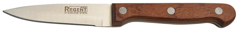 Нож для овощей Regent Inox Rustico, длина лезвия 7,6 см93-WH3-6.1Нож для овощей Regent Inox Rustico изготовлен из высококачественной нержавеющей стали, которая не подвергается коррозии и выдерживает высокие температуры. Ручка выполнена из высококачественного дерева. Нож идеален для нарезки овощей и фруктов. Изделие предназначено для профессионального и домашнего использования. В нем отлично сбалансированы лезвия и ручка, позволяя резать быстрее и комфортнее. Лезвие ножа не впитывает запахи, оставляя натуральный вкус продуктов.Общая длина ножа: 18 см.